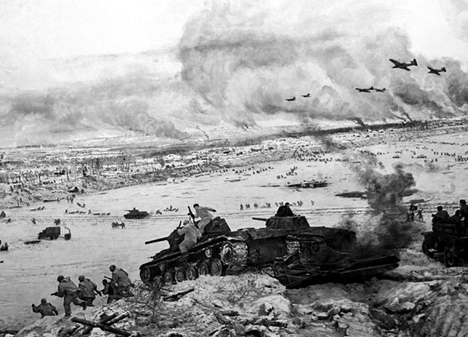 Прорыв блокады Ленинграда. Январь 1943 год. Фото